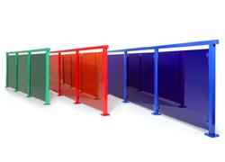 Aluminiumräcke i färg