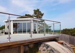 Glasstaket vid terrass