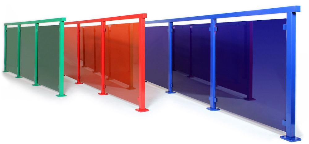 Glasräcken i grönt, rött, blått - eller vilken färg du vill!
