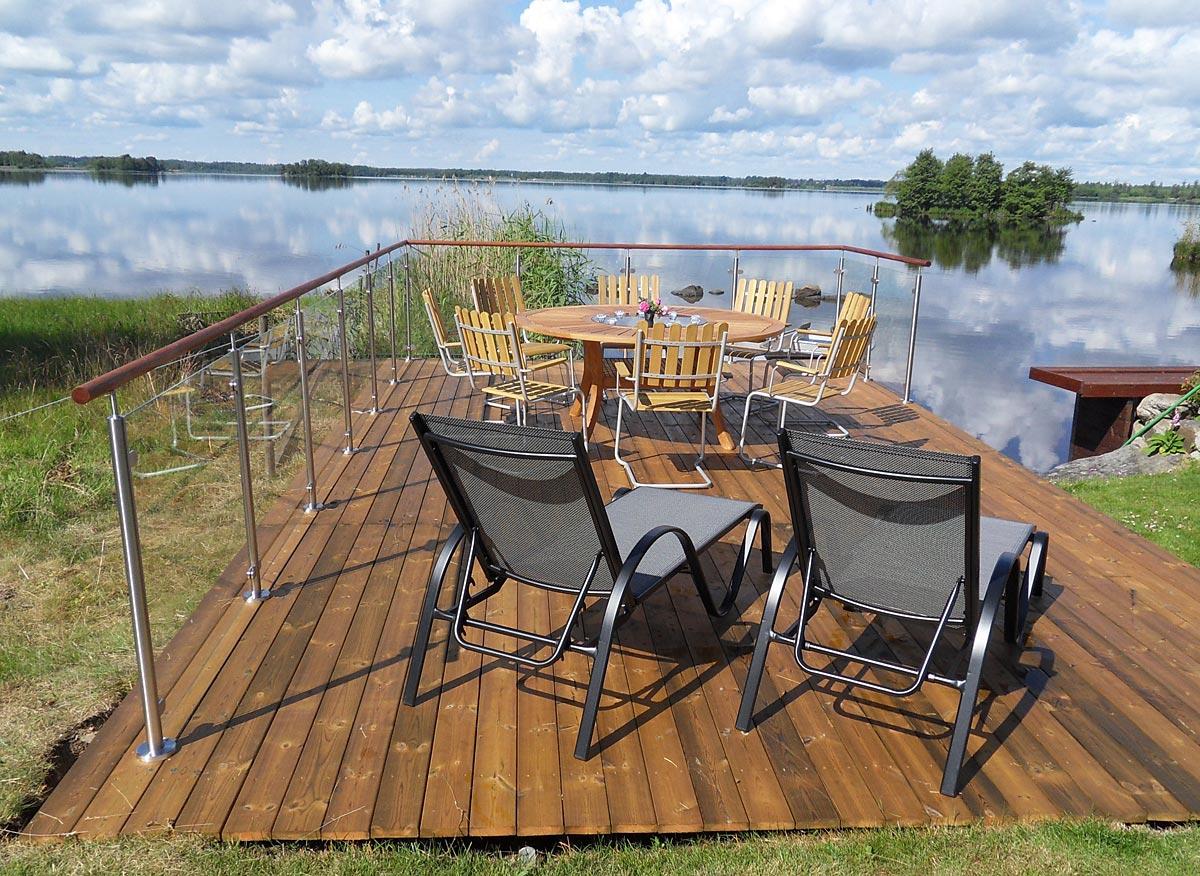 Rostfria räcken, glasräcke i hög kvalitet. Ca 2600 kr/m ... : bygga staket kostnad : Staket